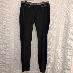 Armani Exchange Black Pants w/ Faux Leather Trim